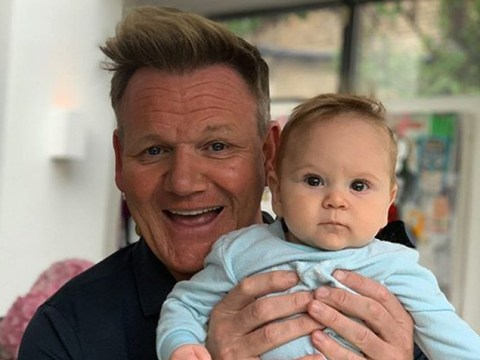 Gordon Ramsay and his baby son Oscar are doppelgangers and rocking the same haircut