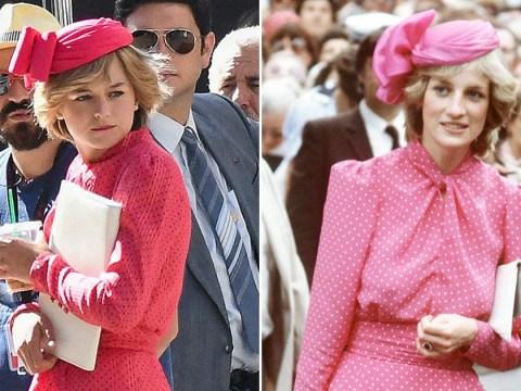 The Crown season 4 photos floor fans as Emma Corrin is identical to Princess Diana