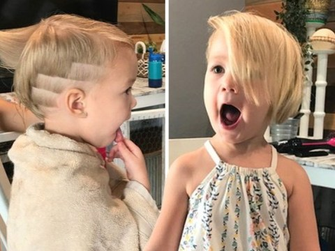 Little girl has to have hair trimmed short after toddler brother cut it all off