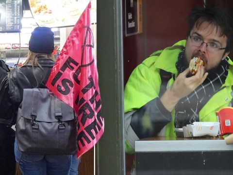 'McHypocrites' criticised for ordering McDonald's during Extinction Rebellion protest