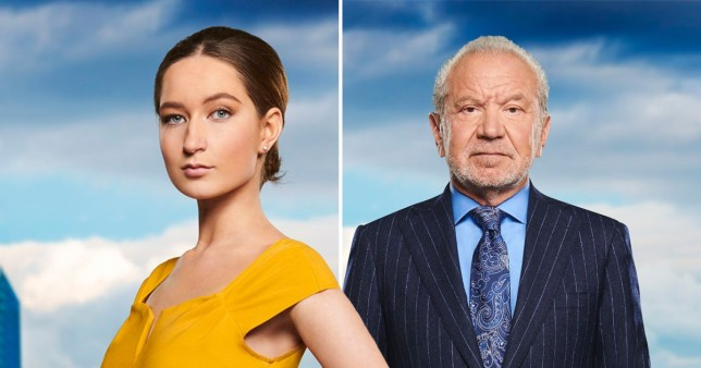 A photo of Lord Alan Sugar and The Apprentice 2019 contestant Lottie Lion