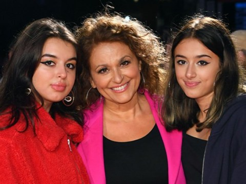 Nadia Sawalha puts intense family feud behind her as she attends film premiere with husband and kids