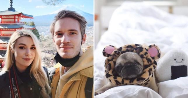 PewDiePie and Marzia Kjellberg