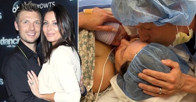 BackStreet Boys' Nick Carter names newborn daughter Saoirse Reign as he pays tribute to 'warrior' wife Lauren Kitt