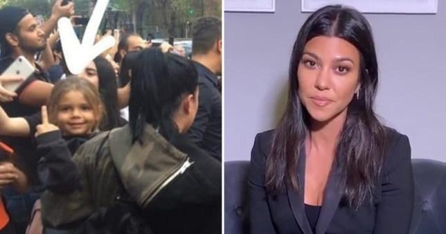 Kourtney Kardashian son swears