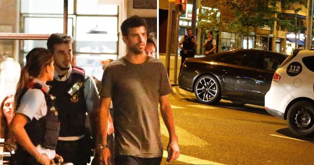 Gerard Pique bizarrely leaves his car in the middle of a zebra crossing while heading out for dinner