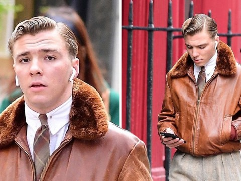 Madonna's son Rocco Ritchie serves up vintage vibes as he heads through Soho and it's a look