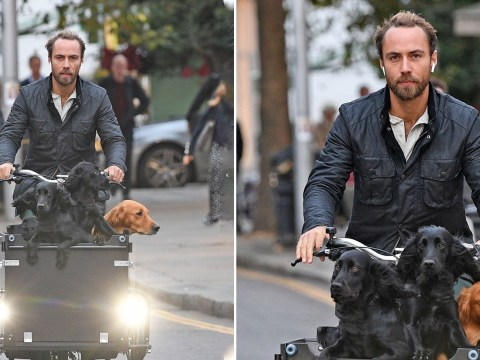 James Middleton is ultimate dog dad as he sightsees with pets after engagement