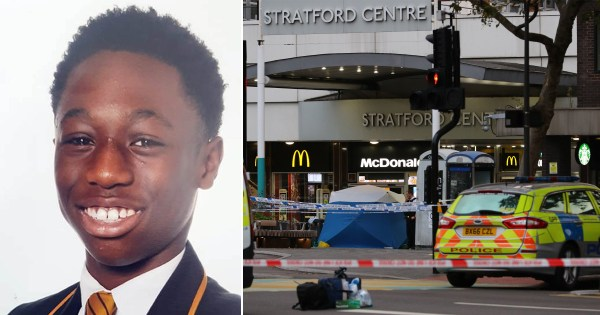 Baptista Adjei was fatally stabbed on Thursday outside of McDonald's in east London