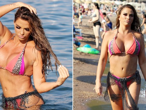Katie Price feeling herself as she shows off surgery results on holiday