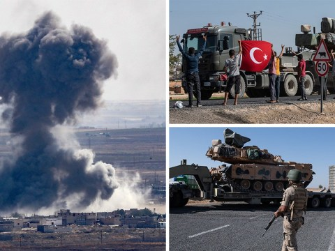 Humanitarian crisis fears as 100,000 people flee homes in Syria amid Turkish offensive