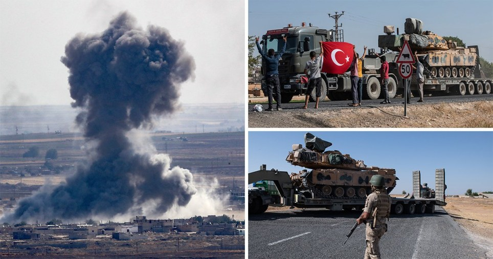 Humanitarian crisis fears as 100,000 people flee Syria amid Turkish offensive
