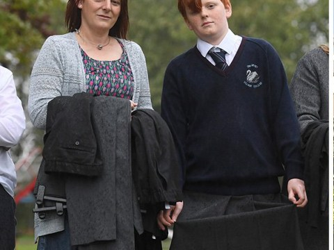 Schoolboy removed from class for wearing wrong trousers returns in a skirt