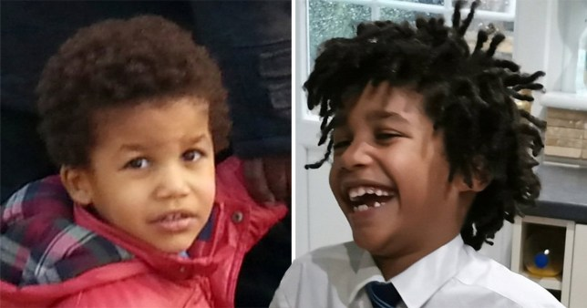 Finley Sullivan is only 8 but has already been subjected to horrendous racial abuse (Picture: SWNS)