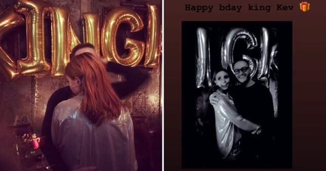 Stacey Dooley and partner Kevin Clifton celebrate his birthday in style