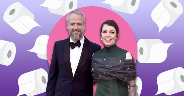 Olivia Colman and husband