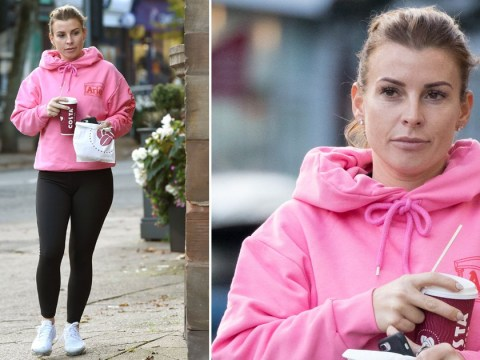 Coleen Rooney grabs a coffee after spilling the tea amid Rebekah Vardy drama