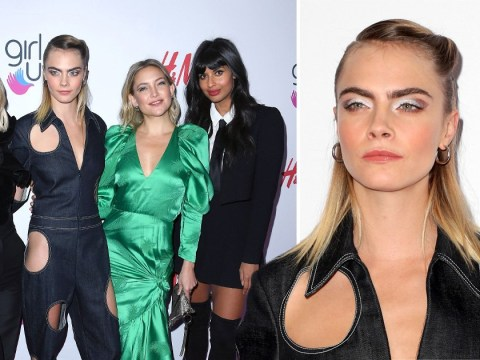 Cara Delevingne spots a fashion opportunity in bold jumpsuit at #GirlHero Awards