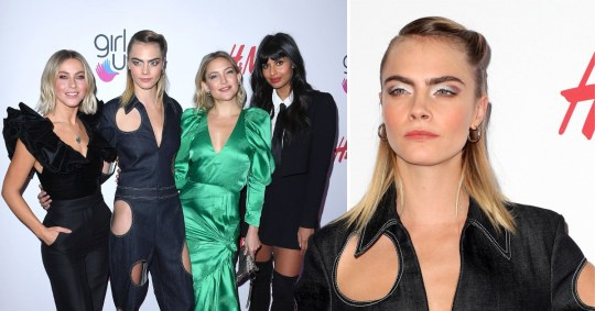 Cara delevingne julianne hough kate hudson jameela jamil