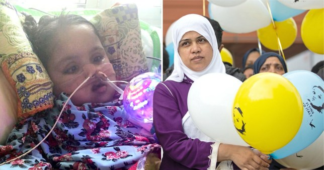 Tafida Raqeeb went into a coma after suffering a ruptured blood vessel in her brain