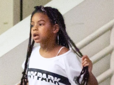 Blue Ivy is adorably rocking super long braids as she joins Beyonce on shopping trip