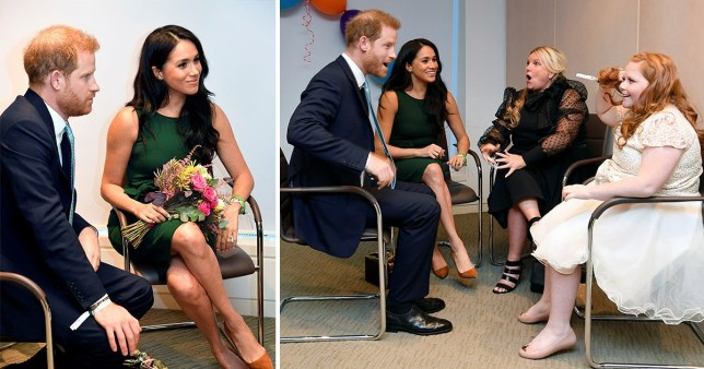 Prince Harry jokes about having ginger hair with girl, 11