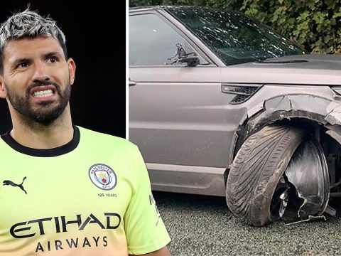 Sergio Aguero involved in car crash before Manchester City training