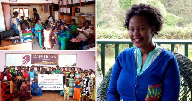 Hellen Tanyinga has started the Rape Hurts Foundation to help other rape survivors in eastern Uganda (Picture: Rape Hurts Foundation)
