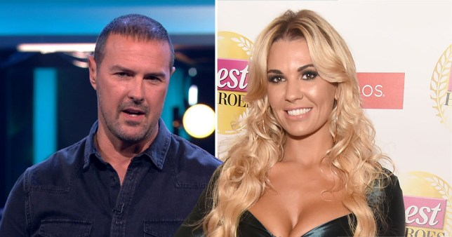 a picture of Christine McGuinness next to an image of her husband paddy
