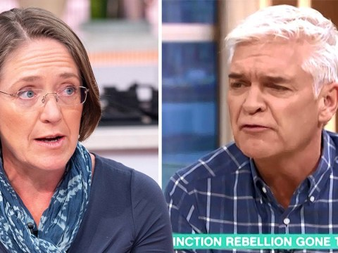 'Don't get like that': Phillip Schofield clashes with Extinction Rebellion rep over Canning Town Tube protest