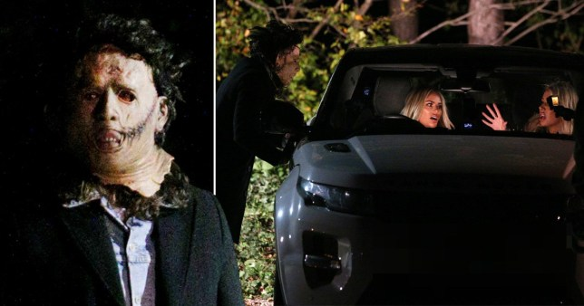 Olivia Attwood and Chloe Sims frightened by masked-man in Towie scenes