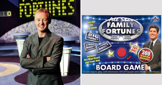Les Dennis has a mare travelling by train with a Family Fortunes board game