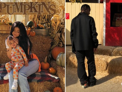 Kylie Jenner and Travis Scott take daughter Stormi to pumpkin patch as two handle co-parenting 'really well'