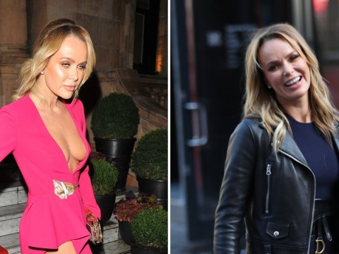 Amanda Holden looks fresh faced for her 6.30am radio shift the morning after Global Gift Gala