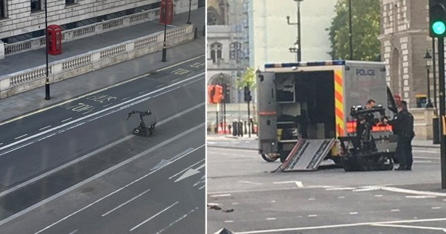 Westminster street on loack down over reports of suspicious package<br /> (Picture: FionaBoothNo1 - hijakejohnstone)