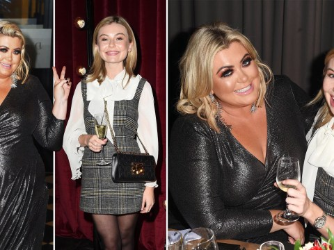 Gemma Collins and Georgia Toffolo are best of friends sharing fishy mousse over dinner