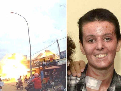 British teacher lucky to be alive after petrol station explosion in Cambodia