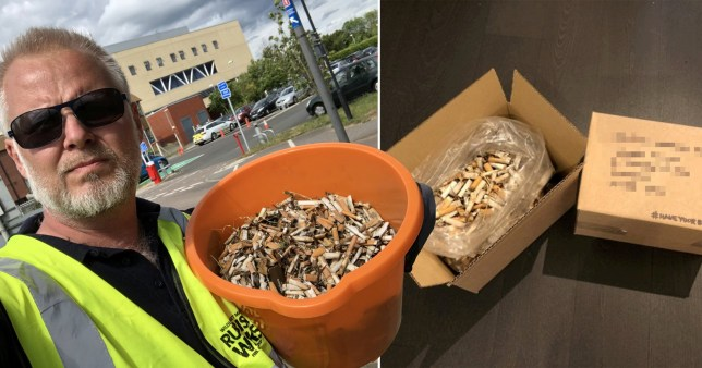 Man posts thousands of cigarette butts to tobacco companies to recycle