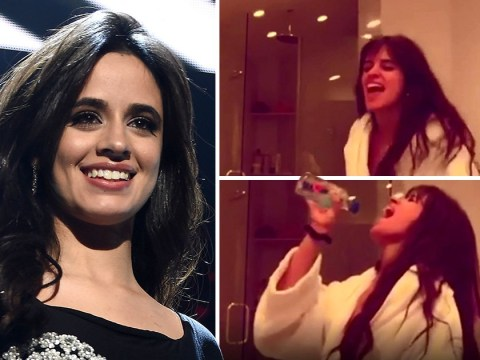 Camila Cabello dancing around her bathroom to a High School Musical song is a whole mood