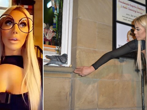 Geordie Shore star Chloe Ferry fuming as taxi driver bails on helping her get injured pigeon to safety