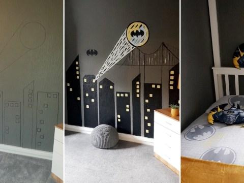 Mum creates incredible Batman bedroom for just £66