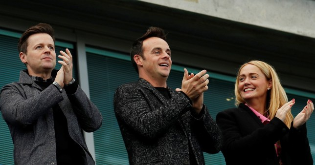Dec, Ant and Anne-Marie watch football match together