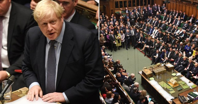 Boris Johnson and MPs in the House of Commons