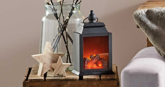 Aldi Christmas battery powered log burner