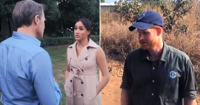 The Duke and Duchess of Sussex give fans a behind the scene look at their southern Africa tour in an hour-long documentary tonight (Picture: ITV)