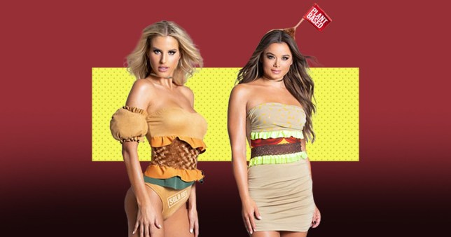 The 'sexy' chicken sandwich and Beyond Burger costumes from Yandy