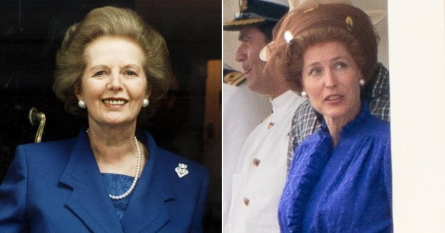 Gillian Anderson unrecognisable after Margaret Thatcher transformation for The Crown season 4