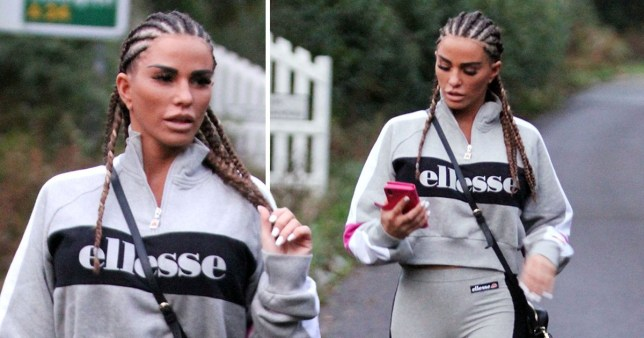 Katie Price cornrows