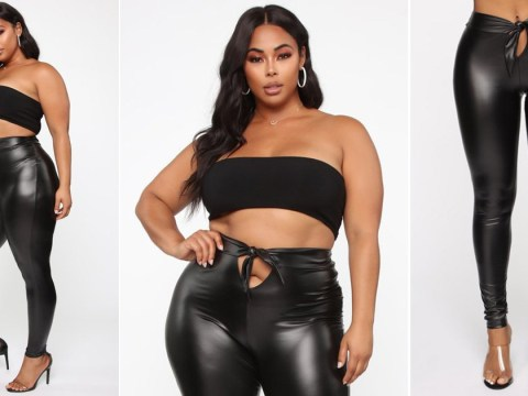 Fashion Nova is selling some odd leggings with an open crotch
