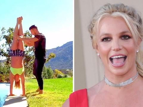 Britney Spears is queen of zen as she practises gymnastics amid music break